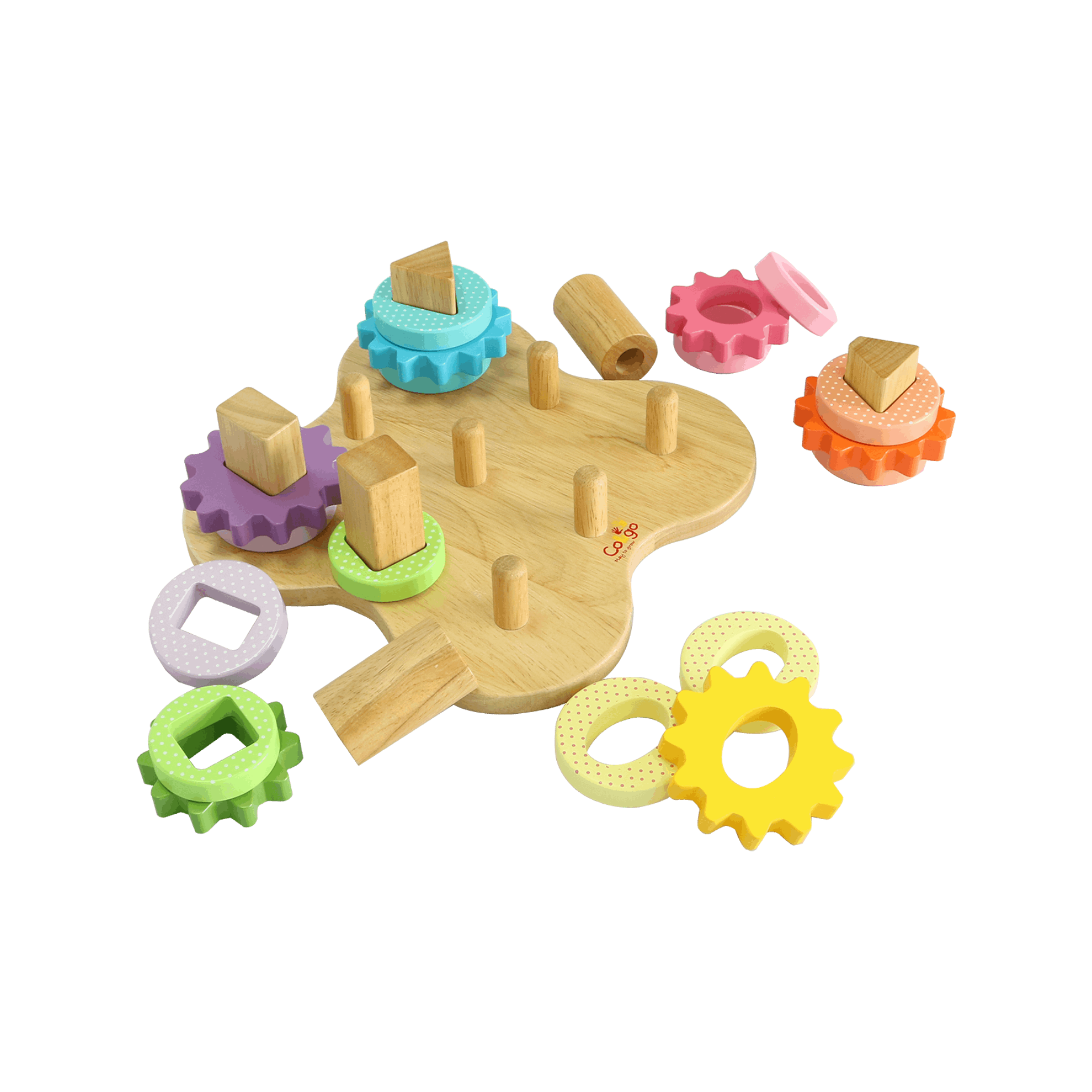 Shape sorting blocks with base