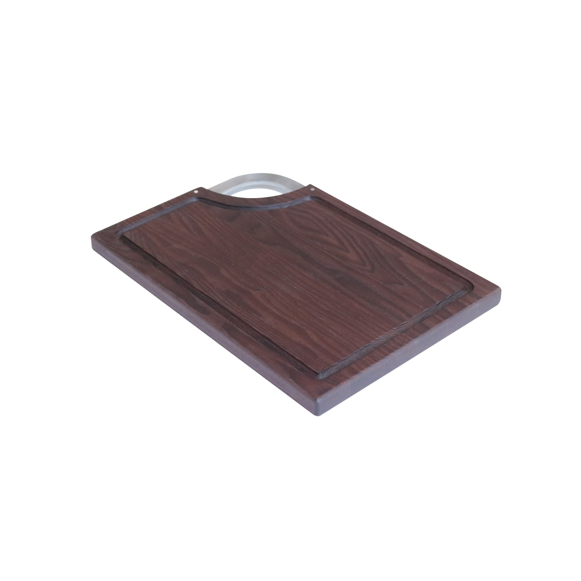Rectangle Thermo Ash Cutting board with inox hanlde