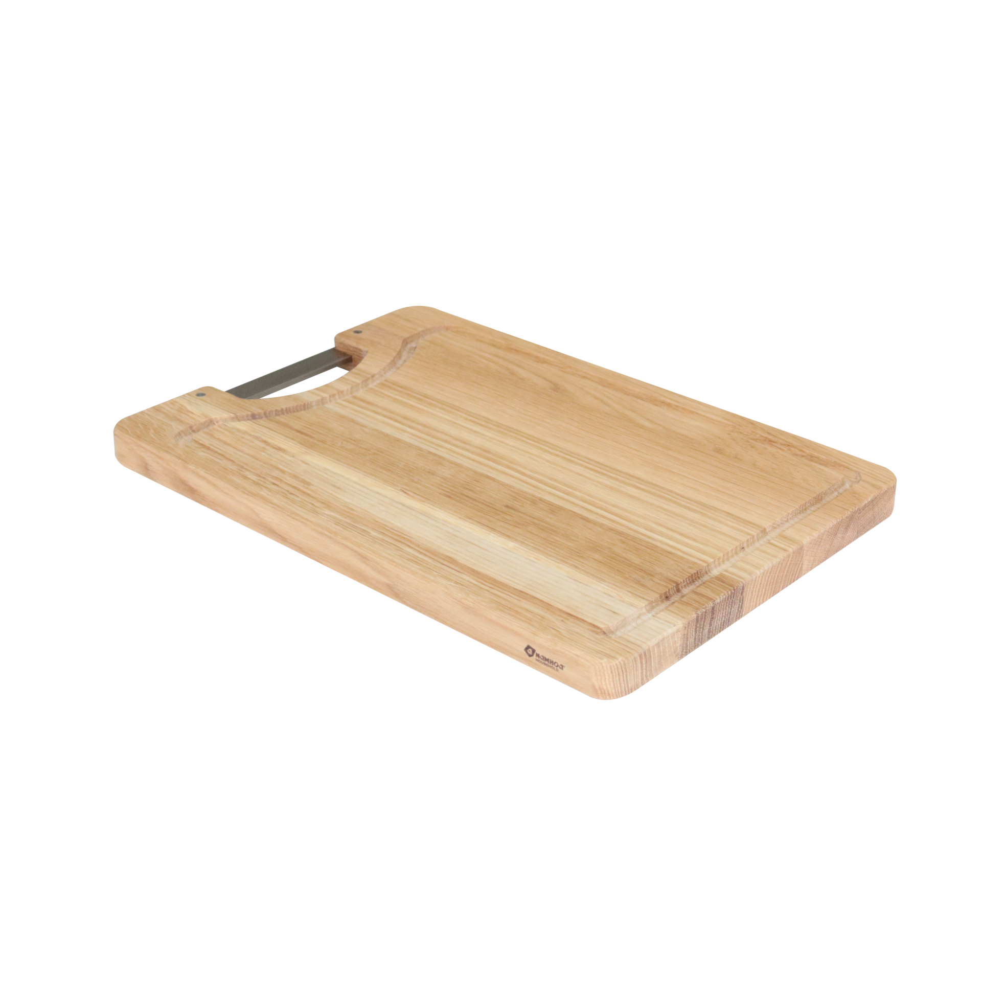 Strive rectangle White Oak Cutting board with inox handle