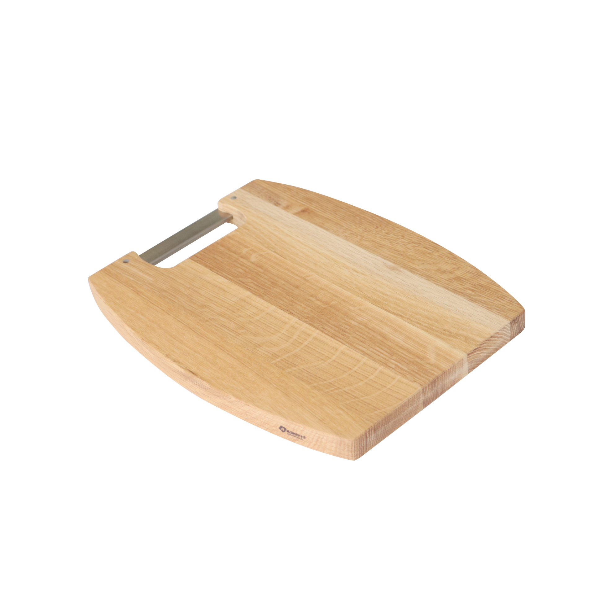 White Oak Cutting board with inox handle